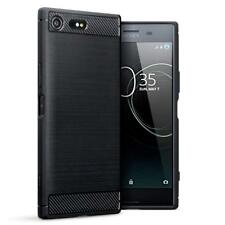 for Sony Xperia XZ Premium Case Carbon Fibre GEL Cover & Glass Screen Protector