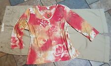 women's clothing lot outfit size 14 pants, xl blouse, necklace EUC
