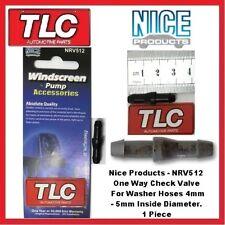 Nice - NRV512 Washer Pump Hose One Way Check Valve 4mm - 5mm Hose