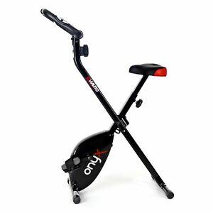 Viavito Onyx Folding Magnetic X-Bike Compact Stationary Upright Exercise Bike