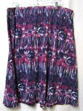 FADED GLORY skirt 2X 18/20W Stretch Waist 38 Length 30 pink/purple/white/black