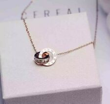 -we❤- Timeless Rose Gold Necklace Roman Numbers Stainless steel