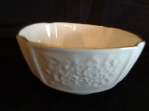 Carolina Collection Small Lenox  Bowl Embossed Ivory Gold Trim