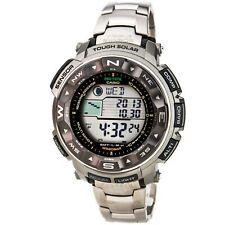 Reloj para Hombres Casio Pro Trek Pathfinder Atomic Fase Lunar banda De Titanio PRW2500T-7