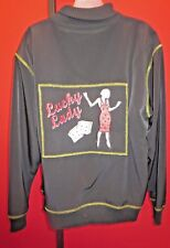 **LUCKY LADY Black Casino Gambling Jacket sz XL**(coat) Vegas High Roller**