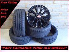 "2501 Genuine 18"" Jaguar Lyra XF Black Alloy Wheels And New Tyres CX23-1007-AA"