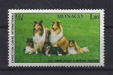 Photo Dog Postage Stamp Rough Coated Collie Shetland Sheepdog Monaco 1981 Mnh