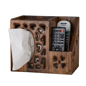 2017 new Vintage Teakwood Tissue Box Cover Chic Napkin Case Holder Home hotel