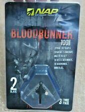 New Archery Products NAP Blood Runner 100 Grain 2-Blade Broadheads (NIB) 3-Pack