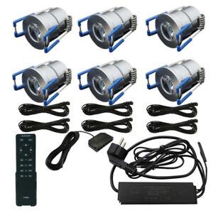 6er-SET FLEX LED-TERRASSENBELEUCHTUNG Minispot  Carport Beleuchtung DIMMBAR