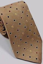 Ermenegildo Zegna men neck tie in khaki with dots all silk