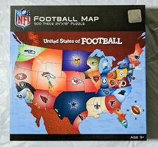 NFL Masterpieces Football Map Puzzle 500 Pieces NEW Jigsaw Puzzle