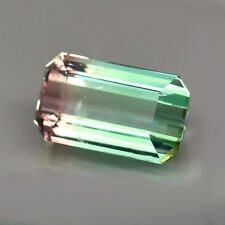 18.77ct.STUNNING RARE GEM BI COLOR TOURMALINE OCTAGON CUT NATURAL GEMSTONE HUGE