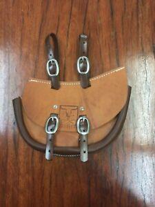 Leather Saddle Bag Mustering Saddlery WDS saddlery