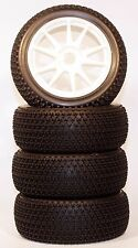 1/8 Tri-Dot WSK Pre-Mounted 1/8 Buggy Tires Glued