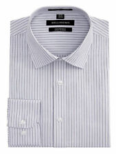 Regular Size Striped Button Cuff Formal Shirts for Men