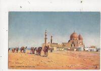 Tombs Of The Khalifs Cairo Egypt Vintage Tuck Postcard 607a