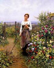 Ladies with broom Flower Garden Daniel Ridgeway Knight