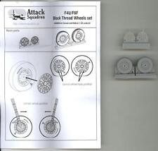 Attack Squadron Models 1/48 F4U & F6F BLOCK THREAD WHEELS Resin Set