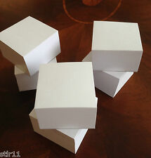 """Blank Note Paper Cubes *NEW TALLER SIZE*  3 1/2"""" x 3 1/2""""- Lot of 6 *FREE SHIP*"""