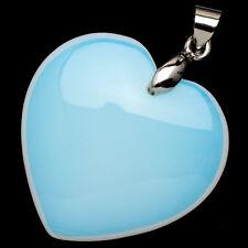 "Ethiopian Opal Rainbow Opalite Moonstone Heart Shape Pendant 1"" Jewelry"
