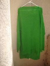 Yohji Yamamoto Vtg 80's Green Acryllic 2 Pc Tunic/Midi Skirt  w/Gold Zippers M