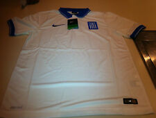 Team Greece 2014 World Cup Soccer Home Jersey Ss Xs Youth White Stadium