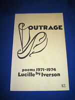Outrage poems 1971-1974 by Lucille Iverson 1974 Paperback