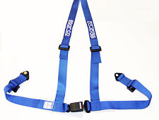 """Sparco Racing Street 3 Point Bolt-In 2"""" Seat Belt Harness (Blue)"""
