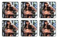 XENA COASTERS - 1/4 BAR & BEER SET OF 6