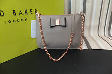 Ted Baker Ladies CAISEY Leather Small Cross Body Clutch Bag Mink BNWT