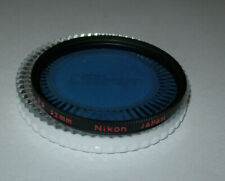 VINTAGE NIKON 52MM B8 BLUE SCREW IN FILTER WITH CASE MADE IN JAPAN