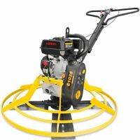 Walk Behind Cement Power Trowel Concrete Tools 5.5HP 196CC Gas EPA Engine Recoil