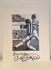 RARE Malcolm Macdonald Newcastle United  Signed Photo Display + COA AUTOGRAPH