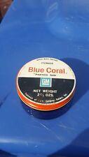 Vintage Advertising Jar Automotive Car GM General Motors Blue Coral Cobalt Glass