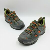 LL Bean Boys Hiking Trail Boots Size 5 Gray Green Orange 300510