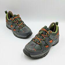 LL Bean Boys Hiking Trail Boots Size 5 Gray Green Orange 300510