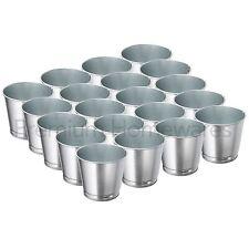 20 x IKEA BINTJE in Acciaio Zincato Metallo vasi di piante (9cm)