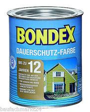 Bondex Dauerschutzfarbe Schneeweiß 3 L Dauerschutz Farbe Holzfarbe Holzschutz