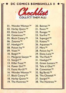 CHECKLIST / DC Comics Bombshells II 2 (2018) BASE Trading Card #64