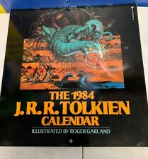 1984 Jrr Tolkien Calendar Lord Of The Rings - New not sealed art Roger Garland