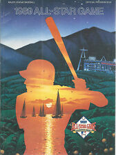 Baseball All Star Game Program 1989 California Angels Anaheim
