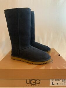 UGG Australia Womens Classic Tall Boots NEW Size 6 Navy Blue