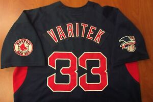 Vintage MLB Nike Boston Red Sox Jason Varitek Authentic Stitched Jersey L