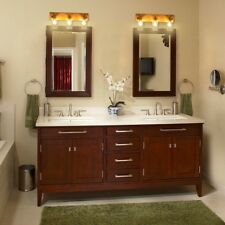 3-Light Home Vanity Fixture Wall Sconces Gold Finish with Clear Glass Shade US