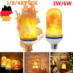 E27 LED Fackel Feuer Lampe 6W Effekt Flammen Glühbirne Party Bar Deko Leuchte