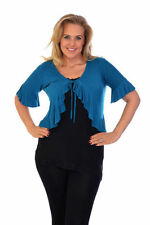 3/4 Sleeve Machine Washable Solid Plus Size Tops & Blouses for Women