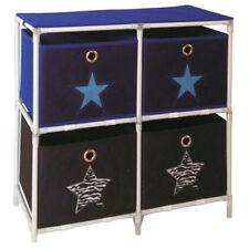 tissu Commode étoile Avec 4 tiroirs paniers H 57 cm Armoire étagère de rangement