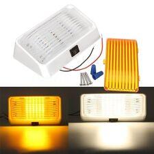 12V LED RV Porch Light Rectangle Clear/Amber Lens Camper Trailer Exterior White
