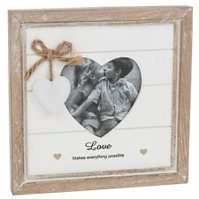 Provence Dark Cream Heart Love Picture Photo Frame Shabby Chic